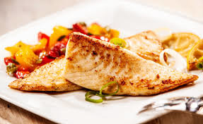 Tilapia (vis) in mosterdsaus / fish in mustard sauce